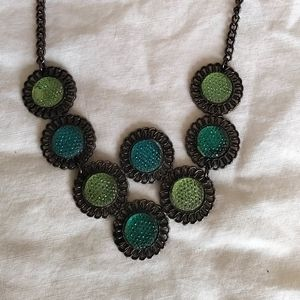 Vintage Blue and Green Glass necklace